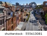 view of george street in the... | Shutterstock . vector #555613081