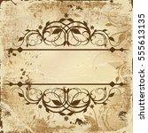old vintage paper | Shutterstock .eps vector #555613135