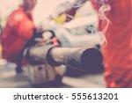 equipment fot fogging ddt spray ... | Shutterstock . vector #555613201