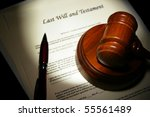 last will and testament with... | Shutterstock . vector #55561489