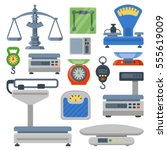 weight measurement scales... | Shutterstock .eps vector #555619009