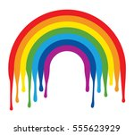 vector symbol of painted... | Shutterstock .eps vector #555623929