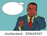 eye pain  fatigue and poor... | Shutterstock .eps vector #555629437