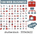 100 web business signs. vector | Shutterstock .eps vector #55563622