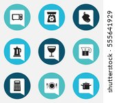 set of 9 editable cook icons....