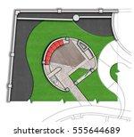 landscaping patio  aster  lan... | Shutterstock . vector #555644689