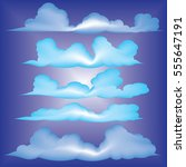 clouds vector collection back... | Shutterstock .eps vector #555647191