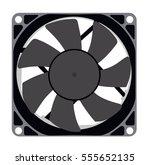 a computer fan on a white... | Shutterstock .eps vector #555652135