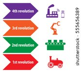 industry 4.0 and 4th revolution ... | Shutterstock .eps vector #555656389