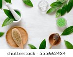 spa cosmetic products concept ... | Shutterstock . vector #555662434