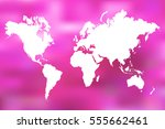 colorful world map illustration ... | Shutterstock . vector #555662461