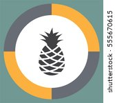 pineapple vector icon. tropical ... | Shutterstock .eps vector #555670615