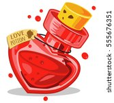 love potion in glass bottle.... | Shutterstock .eps vector #555676351