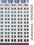 the facade of the new high rise ... | Shutterstock . vector #555678325