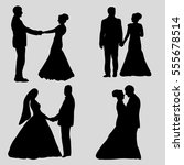 vector  isolated  silhouette... | Shutterstock .eps vector #555678514
