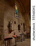 The interior of the church of st. Pierre De Montmartre, Paris. - stock photo