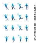 blue school boys  icon... | Shutterstock .eps vector #555685354