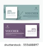 gift voucher template for spa ... | Shutterstock .eps vector #555688897