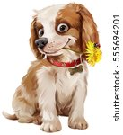 Stock photo happy puppy illustration 555694201