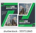 abstract vector modern flyers...   Shutterstock .eps vector #555711865