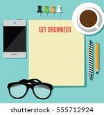 flat design get organized...   Shutterstock .eps vector #555712924