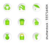 natural environment icons set.... | Shutterstock . vector #555716404