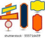 neon signboard collection... | Shutterstock .eps vector #555716659