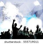 dancing people  vector party... | Shutterstock .eps vector #555719011