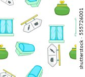 supermarket elements pattern.... | Shutterstock . vector #555726001