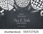 vector card design with ink... | Shutterstock .eps vector #555727525