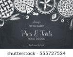 vector card design with ink... | Shutterstock .eps vector #555727534