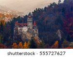 bran castle  know as dracula's... | Shutterstock . vector #555727627
