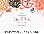 vector card design with ink... | Shutterstock .eps vector #555727801