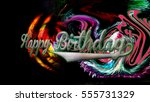 happy birthday greeting card... | Shutterstock . vector #555731329