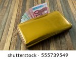Women's Money Purse With Gold...