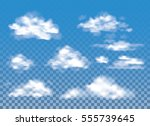 fog   smoke and cloud isolated... | Shutterstock .eps vector #555739645