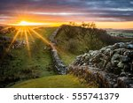 Hadrian's Wall Looking West At...