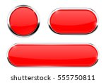 red web icons. buttons with... | Shutterstock . vector #555750811