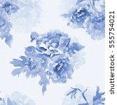 monochrome seamless texture... | Shutterstock . vector #555754021