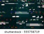 digital tv damage  television...   Shutterstock . vector #555758719