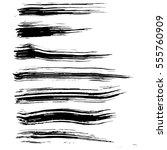 black ink vector brush strokes... | Shutterstock .eps vector #555760909