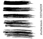 black ink vector brush strokes... | Shutterstock .eps vector #555760939