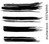 black ink vector brush strokes... | Shutterstock .eps vector #555760945