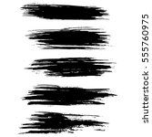 black ink vector brush strokes... | Shutterstock .eps vector #555760975