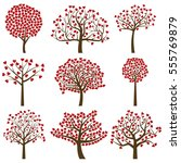 valentine's day tree... | Shutterstock .eps vector #555769879