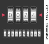 combination  number code lock.... | Shutterstock .eps vector #555772315