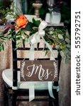 mr.   mrs. sign | Shutterstock . vector #555792751