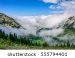 Cloudy Landscape In Mountains ...
