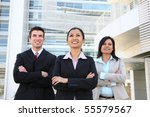 a diverse attractive man and... | Shutterstock . vector #55579567