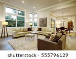 chic light living room design... | Shutterstock . vector #555796129